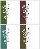 Vier bloemenkaarten royalty-vrije illustratie