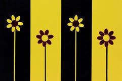 Vier Blumen stockbild