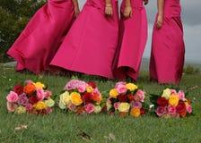 Vier Blumensträuße Stockfoto