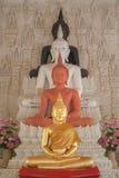 vier Boedha in kerk Royalty-vrije Stock Afbeeldingen