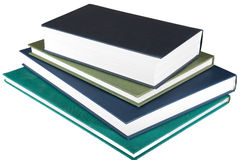 Vier Boeken op Witte Achtergrond Royalty-vrije Stock Foto's