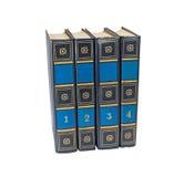 Vier boekvolumes Royalty-vrije Stock Fotografie