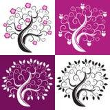 Vier bomen. Royalty-vrije Stock Fotografie