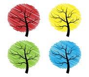 Vier bomen Royalty-vrije Stock Foto