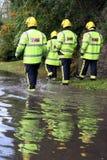 Vier britische Feuerwehrmänner Stockfotografie