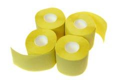 Vier broodjes van toiletpapier Royalty-vrije Stock Afbeeldingen