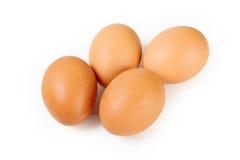 Vier Brown-Eier Lizenzfreies Stockfoto