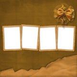 Vier bruine frames met boog Stock Afbeelding