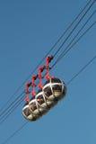 Vier cabines van kabelwagen Stock Fotografie