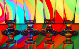 Vier champagneglazen stock fotografie