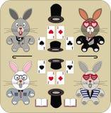 Vier charmante konijnen Royalty-vrije Stock Afbeelding