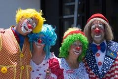 Vier Clowne lizenzfreie stockfotos