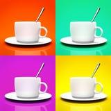 Vier Cup   Stockbild