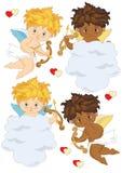 Vier Cupido's Stock Afbeeldingen
