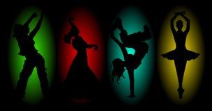 Vier dansen royalty-vrije stock foto's