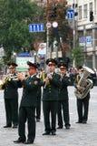Vier de Dag van de Onafhankelijkheid van de Oekraïne Royalty-vrije Stock Afbeeldingen
