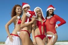 Vier de Kerstman Stock Foto