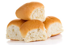 Witte broodjes Royalty-vrije Stock Foto