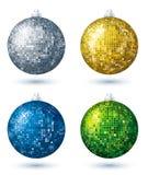 Vier discoballen, vector Stock Afbeeldingen
