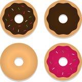 Vier Donuts royalty-vrije illustratie