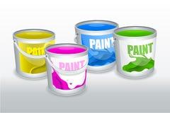Vier Dosen Farbe stock abbildung