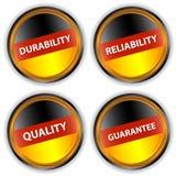 Vier Duitse etiketten Royalty-vrije Stock Afbeelding