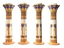Vier Egyptische Pijlers stock illustratie