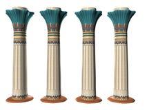 Vier Egyptische Pillers Drie Royalty-vrije Stock Foto's