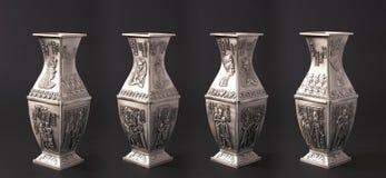 Vier Egyptische vazen Stock Afbeeldingen