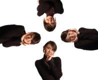 Vier in einem Stockbild