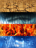 Vier Elemente lizenzfreies stockfoto