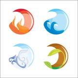 Vier Elemente lizenzfreie stockfotos
