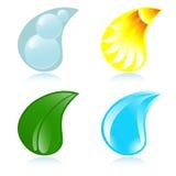 Vier elementen royalty-vrije illustratie