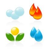 Vier elementen. royalty-vrije illustratie