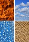 Vier elementen royalty-vrije stock afbeeldingen