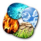 Vier elementen van aard Royalty-vrije Stock Afbeelding