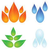 Vier elementen van aard Stock Illustratie