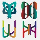 Vier Emblemen Stock Afbeeldingen