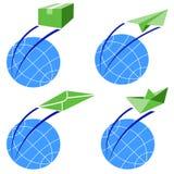 Vier emblemenlevering Stock Afbeelding
