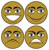 Vier Emoticons Lizenzfreies Stockfoto