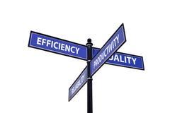 Vier erfolgreiche Geschäftskorrekturlinien Lizenzfreie Stockfotos