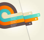 Vier färbten Streifen mit Platz für Ihren eigenen Text. Lizenzfreies Stockbild