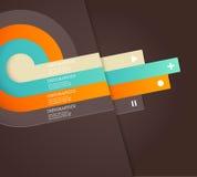 Vier färbten Streifen mit Platz für Ihren eigenen Text. Lizenzfreie Stockbilder