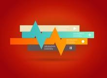 Vier färbten Streifen mit Platz für Ihren eigenen Text Stockfotografie