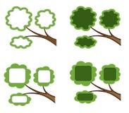 Vier Fahnen mögen Zweige stockfotos