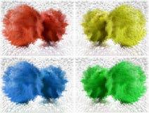 Vier Farben entziehen Hintergrund stock abbildung