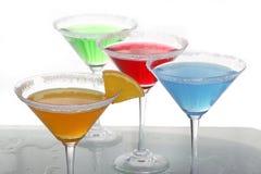 Vier farbige Cocktails 3 Stockbilder