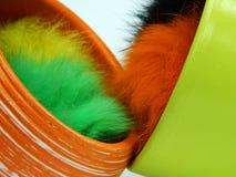 Vier farbige Hauche lokalisiert auf weißem Hintergrund Stockfoto
