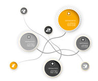 Vier farbige Kreise mit Platz für Ihren eigenen Text. Lizenzfreie Stockfotos