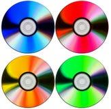 Vier farbige Platten stockfoto